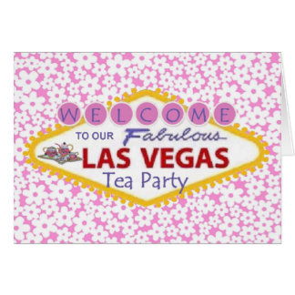 Welcome to Our Fabulous Las Vegas Tea Party Noteca Note Card