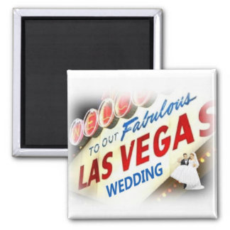 Welcome To Our Fabulous Las Vegas Wedding Magnet w
