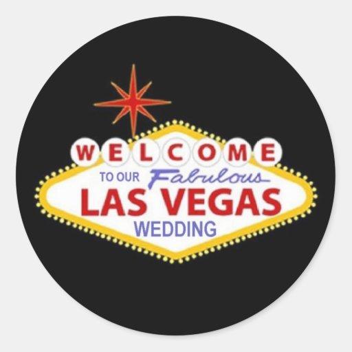 Welcome To Our Fabulous Las Vegas Wedding Sticker