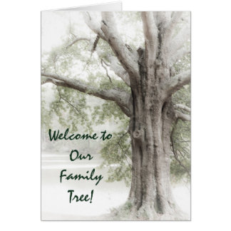Welcome to Our Family Tree Notecard