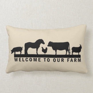 Welcome To Our Farm Lumbar Pillow