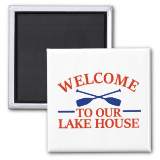 Welcome to our Lake House Magnet