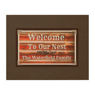 Welcome to Our Nest Wood Wall Art