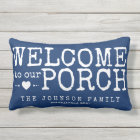 Welcome to our Porch Custom Family | Blue & White Lumbar Cushion