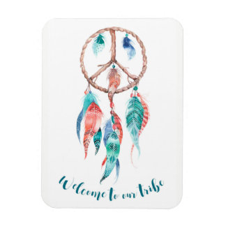 Welcome To Our Tribe Dream Catcher Tribal Chic Rectangular Photo Magnet