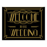 Welcome to our wedding Art Deco Print