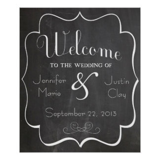Welcome to our Wedding Sign or Poster