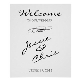 Welcome to our Wedding sign Poster