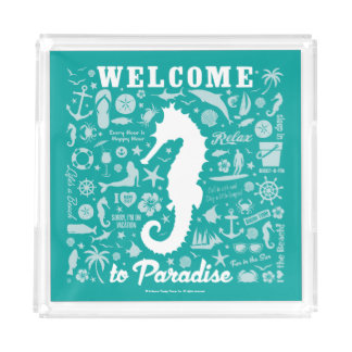 Welcome to Paradise Acrylic Tray