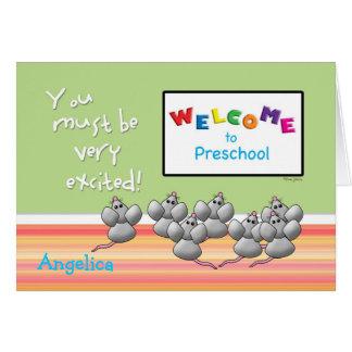 Welcome to Preschool from Teacher Mice SMART Board Card