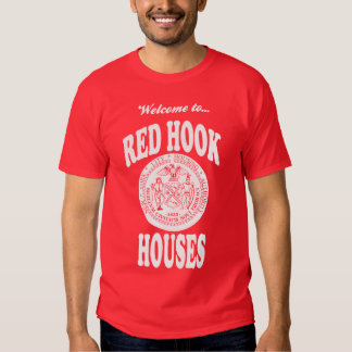 Welcome to Red Hook Houses - White Print Tshirts