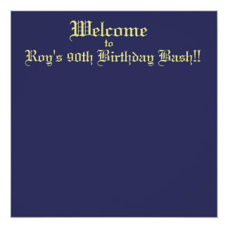 Welcome, to, Roy's 90th Birthday Bash!! Poster