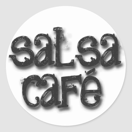 Welcome to Salsa Cafe Round Stickers