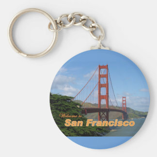 Welcome to San Francisco - Golden Gate Bridge Basic Round Button Key Ring