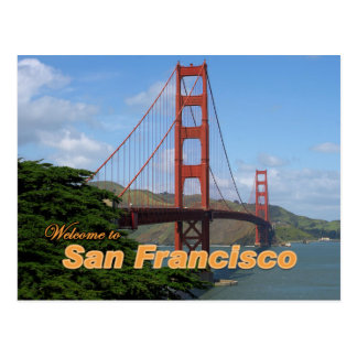 Welcome to San Francisco - Golden Gate Bridge Post Card
