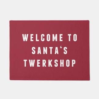 Welcome to Santa's Twerkshop | Funny Christmas Doormat