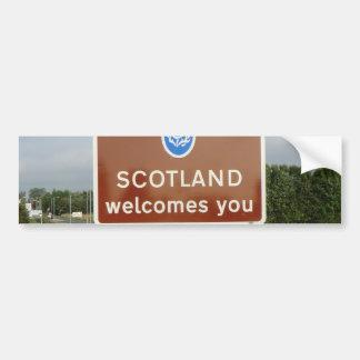 Welcome to Scotland - Anglo-Scottish Border Sign Bumper Sticker