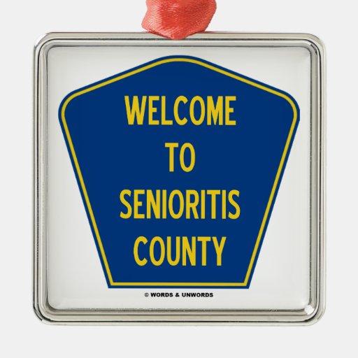 Welcome To Senioritis County (Sign Humor) Christmas Ornament