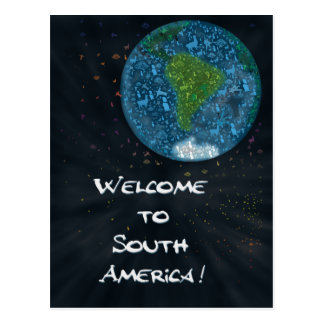 Welcome to South America Postcard