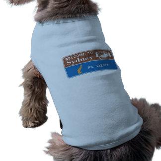 Welcome to Sydney Sign, Australia Doggie Shirt