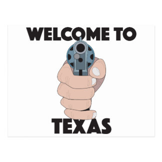 Welcome to texas postcard