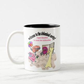 Welcome to the abdominal cavity! Two-Tone coffee mug