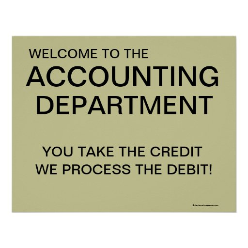 Welcome to the Accounting Department poster