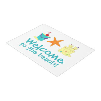 Welcome to the Beach Sandcastle Shell Doormat