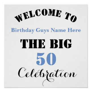 Welcome To ... The BIG 50 Birthday Celebration -