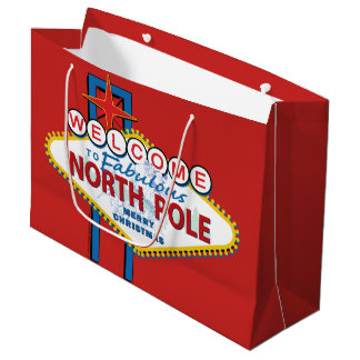 Welcome to the Fabulous North Pole Large Gift Bag