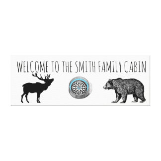 Welcome To The Family Cabin Canvas Art