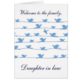 Welcome to the family Daughter in law Greeting Card