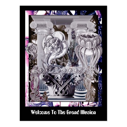 Welcome To The Grand Illusion Postcard