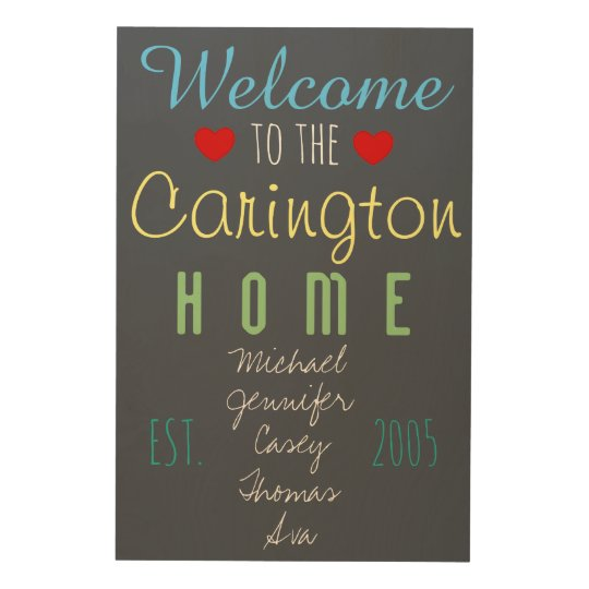 Welcome to the Home Wood Wall Plaque Custom Names Wood Wall Art