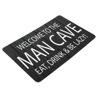 Welcome To The Man cave Minimalist Modern Floor Mat