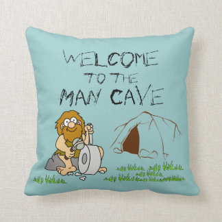 Welcome to the Man Cave Pillow
