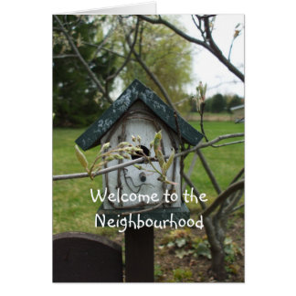 Welcome to the Neighbourhood-bird house Card