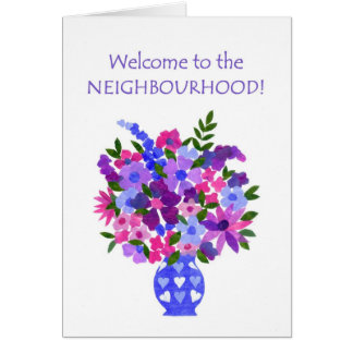 Welcome to the Neighbourhood Card - Flower Power