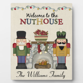 Welcome to the Nuthouse Personalized Family Plaque