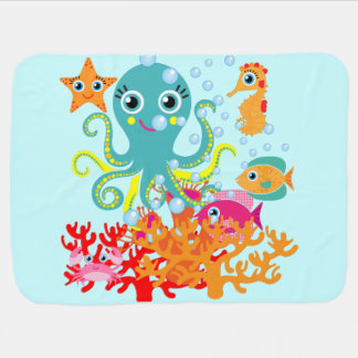 Welcome to the Ocean Baby Blanket
