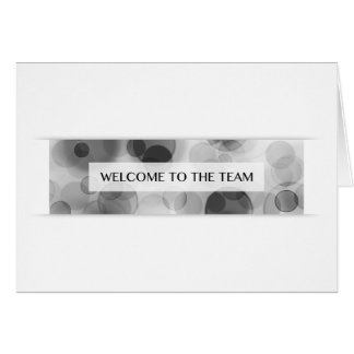 welcome to the team (bokeh) greeting card