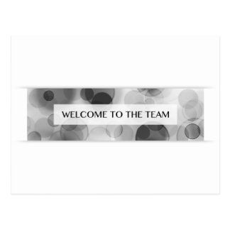 welcome to the team (bokeh) postcard
