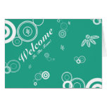 Welcome To The Team Green Floral Postcard Greeting Card