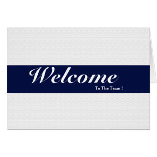 Welcome To The Team White Minimal Navy Blue Badge Card
