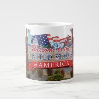 Welcome to the USA Large Coffee Mug