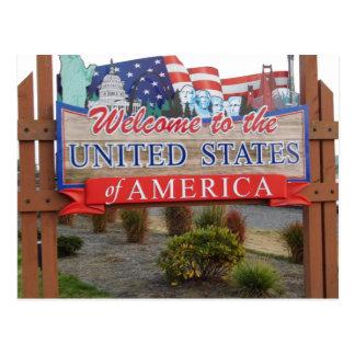 Welcome to the USA Postcard
