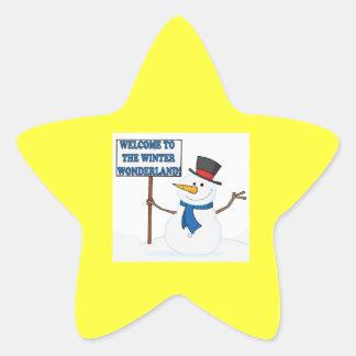 Welcome To The Winter Wonderland Star Sticker