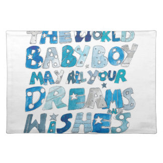 Welcome To The World Baby Boy Placemat