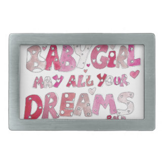 Welcome To The World Baby Girl Belt Buckle
