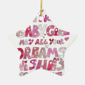 Welcome To The World Baby Girl Christmas Ornament